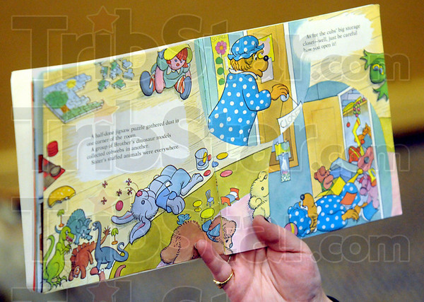 Read: Detail photo of book being read in the Maple Avenue Day Care.