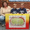 Budding artists: Lauri Fritz with her sons Creed and Christopher. The drawing the boys created has been included in the 2011 Riley Children's Hospital calender.