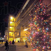 Crossroads tree: The community Christmas Tree was lit by Santa Claus Friday night at Crossroads Plaza.