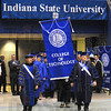 And circumstance: Faculty of the ISU college of Technology lead their graduates onto the Hulman Center floor for Commencement Saturday afternoon.