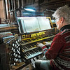 Organist: Sister Lisa Stallings S.P. plays the organ during Saturday's Eucharistic Liturgy at The Church of the Immaculate Conception.