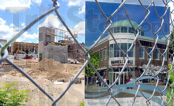 Site: The new Barnes & Noble site at 5th and Cherry Streets slowly takes shape.
