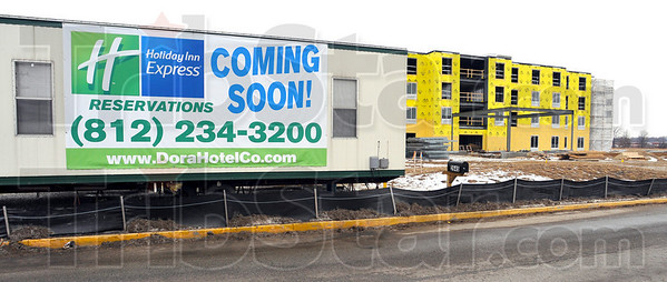 Progress: A new Holiday Inn Express will be the first hotel/motel at the I-70-SR46 interchange.