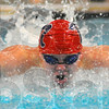 Flying: Matt Guell swims the third, butterfly stroke leg in the boy's 400 yard medley relay.