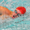 Long haul: Patriot senior swimmer John-David Logsdon draws a breath while swimming the 1,000 yard freestyle.