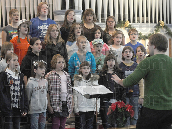 Choir: Members of the Terre Haute Children's Choir rehearse at the Central Presbyterian Church Wednesday afternoon.