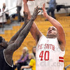 Shot: South's #40, Jeffrey Turner scores during first half action Monday night.