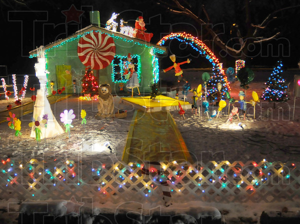 """Dorothy meets Santa: """"Christmas in OZ"""" is the theme of this display in Deming Park."""