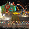 "Dorothy meets Santa: ""Christmas in OZ"" is the theme of this display in Deming Park."