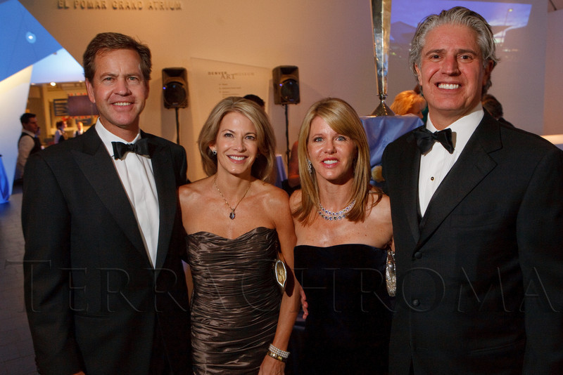 (Denver, Colorado, Dec. 2, 2010)<br /> Dave and Wendy Lee with Virginia and Scott Reiman.  Collector's Choice, honoring Fred Hamilton, at the Denver Art Museum in Denver, Colorado, on Thursday, Dec. 2, 2010.<br /> STEVE PETERSON