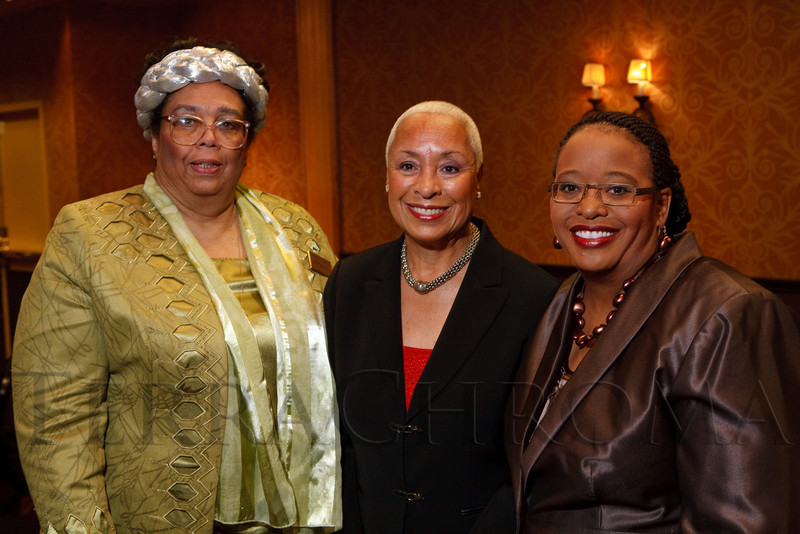 (Denver, Colorado, Dec. 4, 2010)<br /> Gloria Parsons-Gray, emcee Rosemary Marshall, and Elbra Wedgeworth.  The National Council of Negro Women host the 19th Annual Founder's Day Harambee Brunch at the Doubletree Hotel Denver in Denver, Colorado, on Saturday, Dec. 4, 2010.<br /> STEVE PETERSON