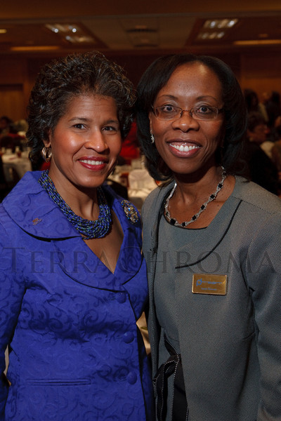 (Denver, Colorado, Dec. 4, 2010)<br /> Event chairs Elizabeth Lee and Annie Howard.  The National Council of Negro Women host the 19th Annual Founder's Day Harambee Brunch at the Doubletree Hotel Denver in Denver, Colorado, on Saturday, Dec. 4, 2010.<br /> STEVE PETERSON