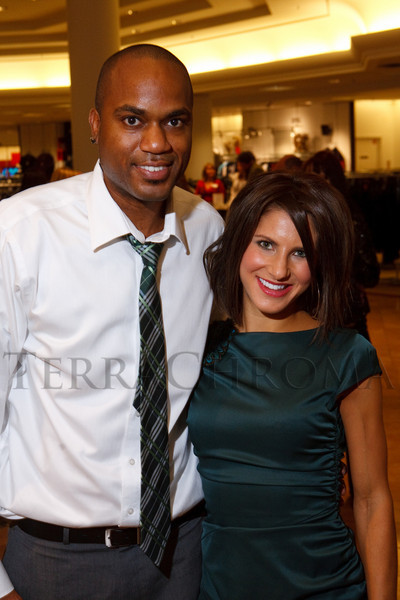 (Denver, Colorado, Dec. 9, 2010)<br /> Adrian Smith and Madison Carter, two of the event co-hosts.  Miracle on Fifth Avenue cocktail event at  Saks Fifth Avenue Cherry Creek in Denver, Colorado, on Thursday, Dec. 9, 2010.<br /> STEVE PETERSON