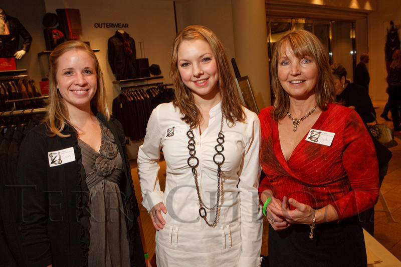(Denver, Colorado, Dec. 9, 2010)<br /> With Zuma's Rescue Ranch:  Erin Bowen, Victoria Messenich, and Jodi Messenich (co-founder with husband, Paul).  Miracle on Fifth Avenue cocktail event at  Saks Fifth Avenue Cherry Creek in Denver, Colorado, on Thursday, Dec. 9, 2010.<br /> STEVE PETERSON