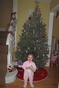 Gralyn is sooo excited for Christmas...just wish the ornaments would actually stay on the tree :)
