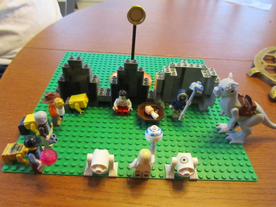 Noah spent part of his day off from school making a nativity scene out of Lego.