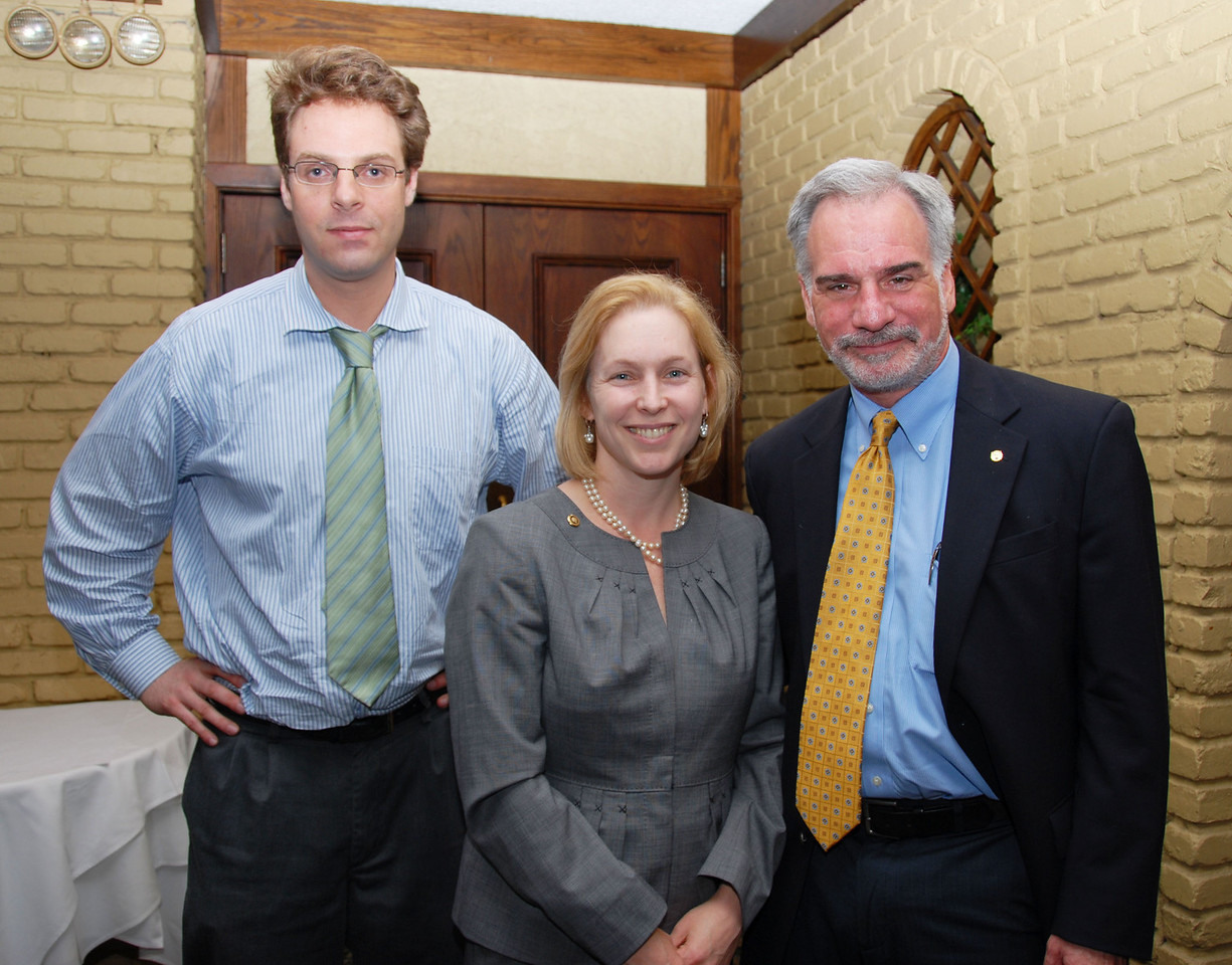 District 1 Political/Research Coordinator Pete Sikora, NY Senator Kirsten Gillibrad and District 1 Legislative and Political Director Robert Master (pictured left to right).