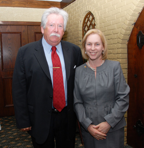 District 1 Vice President Christopher Shelton and NY Senator Kirsten Gillibrand.