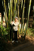 Jenna feels the bamboo tree