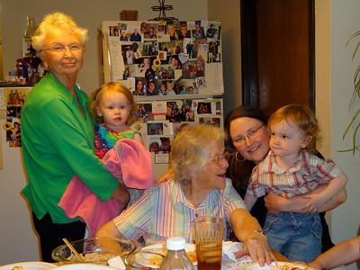 Visiting with great grandma