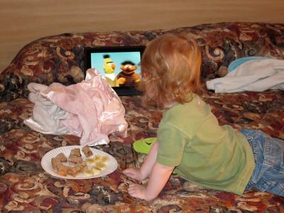 Ernie and Bert entertain Charlie