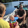 """JEFF, LIBBY, AND SHELLY ON """"ALEX'S BOAT RIDE ON KLEUTSCH LAKE"""