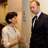 President Doris Leuthard (Switzerland) and Minister of Trade and Industry Trond Giske (Norway)