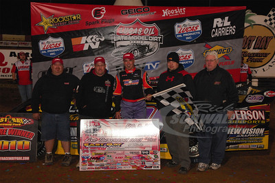 Billy Moyer and crew in Victory Lane @ East Bay Raceway Park