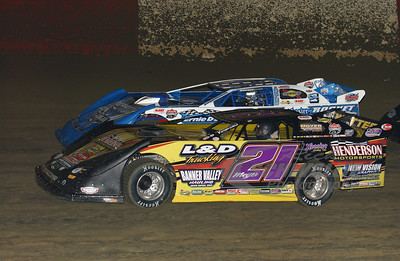 21 Billy Moyer and 25 Josh Richards