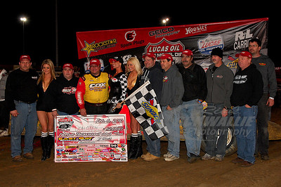 Don O'Neal and crew in Victory Lane @ East Bay Raceway Park