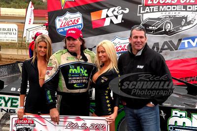 Scott Bloomquist in Victory Lane @ East Bay Raceway Park
