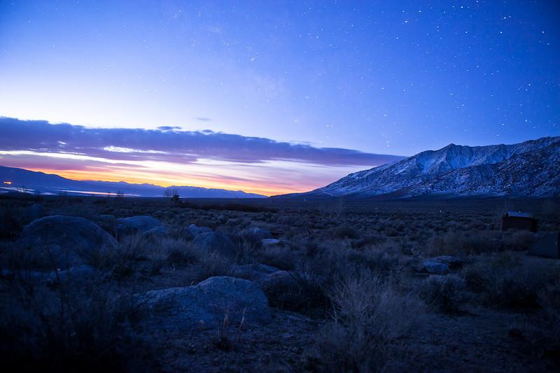 Pre-sunrise over Owens Lake.
