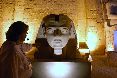 Luxor Temple at Night - Livia McCarthy