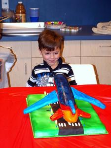 Eli enjoys his cake