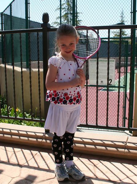 Emily's Tennis Lesson