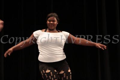 "Melissa Dicke (Math teacher) and Gina Scaduto (Math teacher) perform ""Fame"" during NFA's Fifth Annual Dancing with the Teachers at Newburgh Free Academy on Friday, December 10, 2010. Hudson Valley Press/CHUCK STEWART, JR."