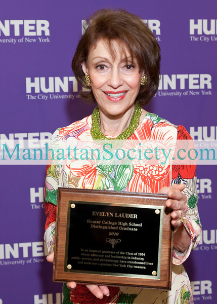 NEW YORK-JUNE 24: Evelyn Lauder attends 2010 Hunter College High School Commencement Ceremony on Thursday, June 24, 2010 at Assembly Hall at Hunter College North, 69th Street, between Park and Lexington Avenues, New York City, NY (PHOTO CREDIT: ©Manhattan Society.com 2010 by Christopher London)
