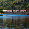 Another fall along the D&H as CP 253 passes Seward Pond in Schenevus, NY.