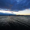 Boston Harbor just before Sunrise at Castle Island.