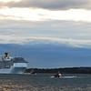 The Costa Atlantica arrives in Boston, October 16, 2010.