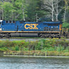 CSX 5104 heads downgrade past muddy pond with Q264.