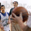 Coach: Pat Rady puts his Cloverdale team through their daily workout Thurday evening.