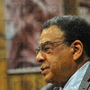 Witness: Andrew Young talked with Indiana State University students Thursday afternoon then held a press conference. He gave a talk in Tilson Music Hall later that evening.