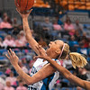 Tribune-Star/Joseph C. Garza<br /> Off the bench and scoring: Indiana State's Moriah Hodge beats the Wichita State defense to the basket during the Sycamores' 81-59 win Sunday at Hulman Center.