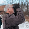 Tribune-Star/Joseph C. Garza<br /> Scanning for our feathered friends: Brenda and Phil Milliren scan the skies around their home Sunday as they participate in the 13th annual Great Backyard Bird Count.