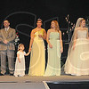 Stars: Models line up for a last showing of wedding wear at the Tribune-Star Bridal Show Sunday afternoon at the Hulman Center.