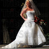 On stage: Kallie Wilkerson models a gown at the Tribune-Star Bridal Show Sunday afternoon.