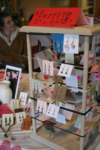 The Art Club sold original student jewelry and other artwork outside the Caf for a week leading up to Valentine's Day.