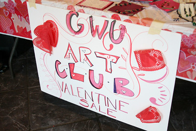 The Art Club sells student work outside the Caf on Thursday.