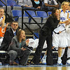 Rookie x 3: Indiana State Womens' basketball coaches Clint Weddle, Melanie Boeglin and Cammie Campbell watch and encourage their team in their Friday night game against Missouri State.